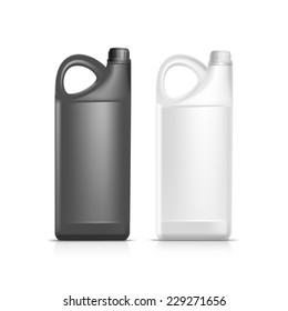 Blank Plastic Jerrycan Canister Gallon Oil Cleanser Detergent Abstergent Isolated