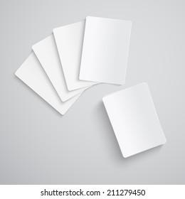 Blank Poker Cards Isolated on White Background