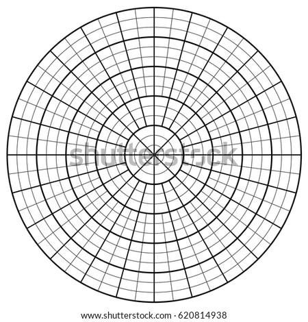 blank polar graph paper protractor pie のベクター画像素材