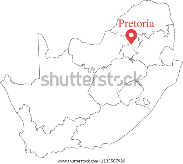 Blank Political Map South Africa Provinces Stock Image ...