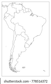 South America Map Images, Stock Photos & Vectors   Shutterstock