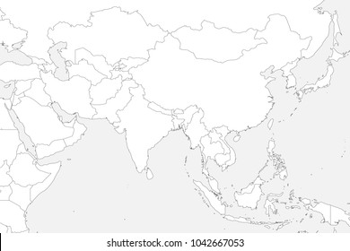Asia Map Blank Images Stock Photos Vectors Shutterstock