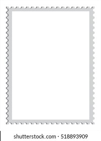 Blank postage stamp, vector templates with place for your images and text