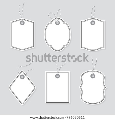 Blank Price Tags Gift Cards Tied Stock Vector Royalty Free