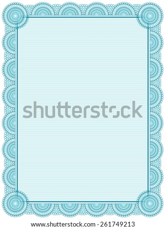 blank printable certificate frame template - Certificate Frame Template