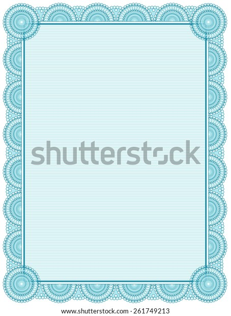 photo relating to Printable Certificate Paper titled Blank Printable Certification Body Template Inventory Vector