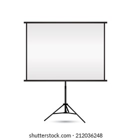 Blank projection screen with copy-space. Vector EPS10.