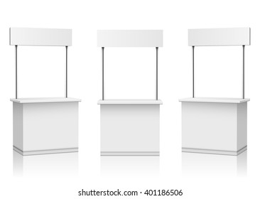 Blank Promotion Stands on a white background