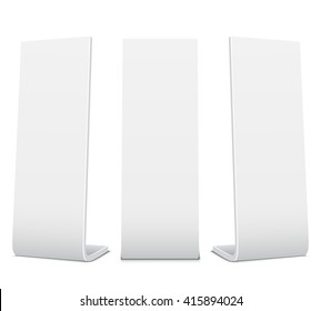 Blank Promotional Stands on a white background