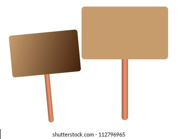 Blank protest banners isolated on white, demonstrations