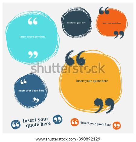 blank quote template set stock vector royalty free 390892129