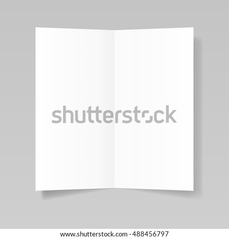 Blank Realistic Folded Sheet Paper Brochure Stock Vector Royalty