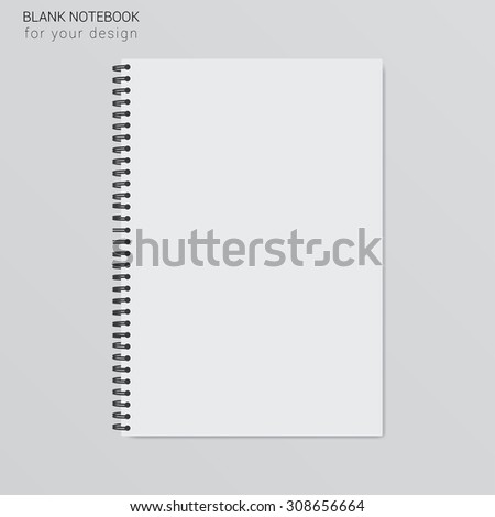 blank realistic spiral notepad notebook template your のベクター