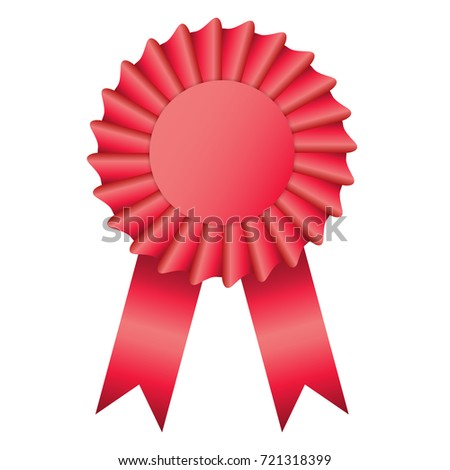 blank red color rosette award ribbon stock vector royalty free
