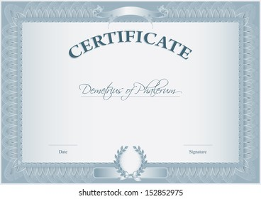 Vector certificate completion template 56737093 blank retro certificate template which can be issued after the completion of any course by educational yelopaper Image collections