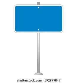 Blank Road Sign Board vector