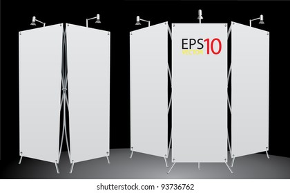 blank roll up banner display Vector template. 2 format for design work