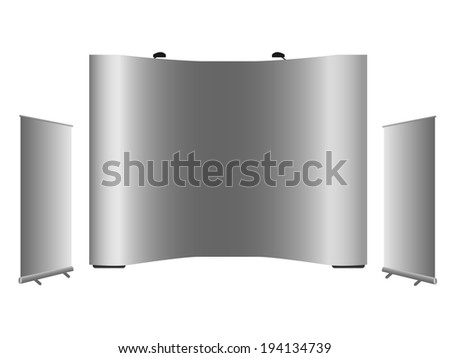 blank rollup banner popup banner display stock vector royalty free