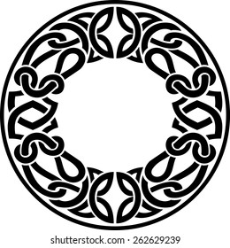 Blank Round Ornamental Celtic Design