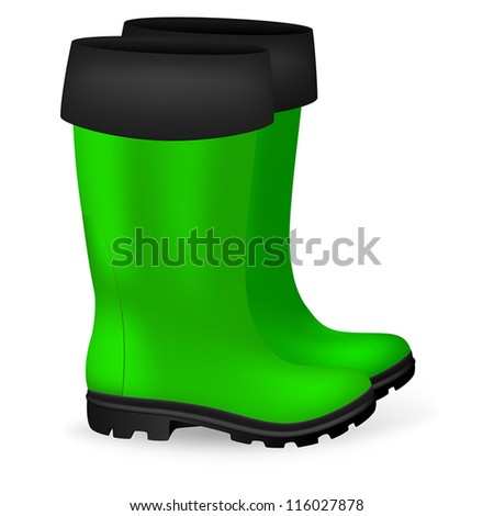 Blank Safety Rubber Boots Template Stock Vector Royalty Free