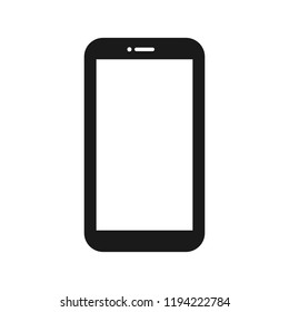blank screen smartphone isolated on white background