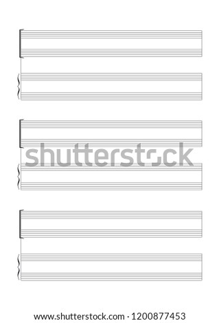 Blank Sheet Music 15 Staves Without Clefs For The Notation Of An Instrumental Or Vocal