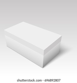 Blank of shoe box template for your design. Vector.