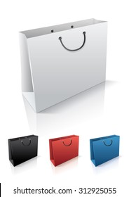 Blank shopping bags for your design and presentations. Add your own label or change the color.