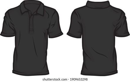 Blank Short Sleeve Polo Shirt Template