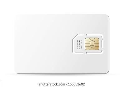 Blank sim card. Vector EPS-10