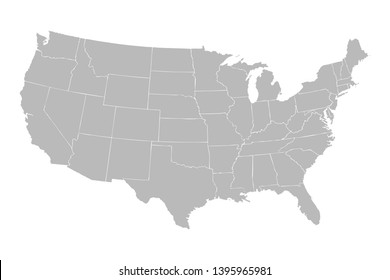 United States Map State Outline Images, Stock Photos ...
