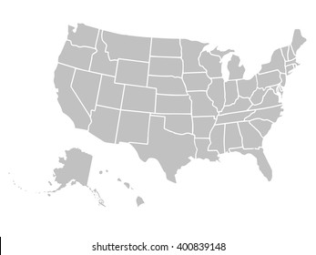 Usa Map Vector Images, Stock Photos & Vectors | Shutterstock