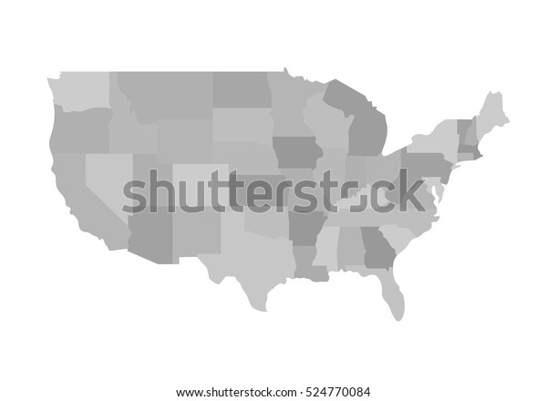 Blank Similar Usa Map Isolated On Stock Vector (Royalty Free ...