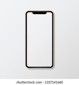 Blank smartphone screen mockup illustration