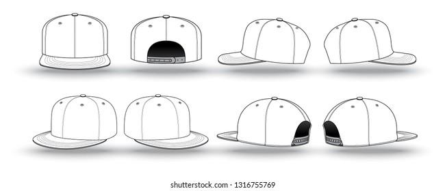 ecf09259e Snap Back Hat Images, Stock Photos & Vectors   Shutterstock