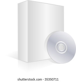 Blank software box and cd for your designs