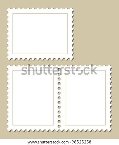 blank stamp template stock vector royalty free 98525258 shutterstock