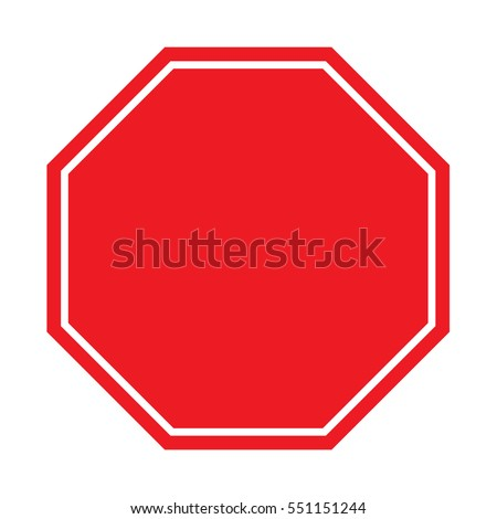blank stop sign stock vector royalty free 551151244