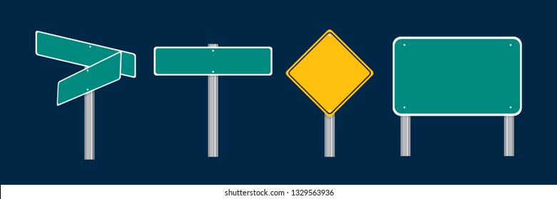 Blank Street Sign Icon Vector Illustration