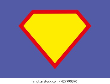 Blank Superhero Badge. Vector