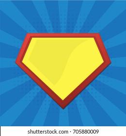 Blank Superhero Badge. Vector