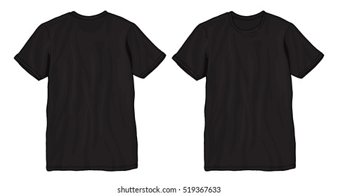 blank t shirt template. black t-shirt vector.