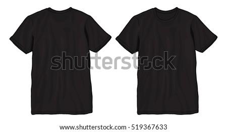 Blank T Shirt Template Black Vector