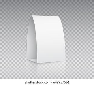 acrylic plexiglass table card holder isolated stock vector 648233959