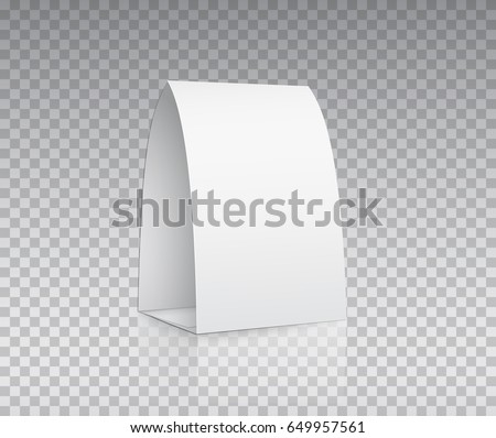 blank table tent isolated on transparent stock vector royalty free