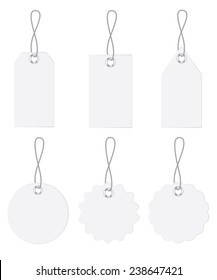 blank tags set isolated on white background