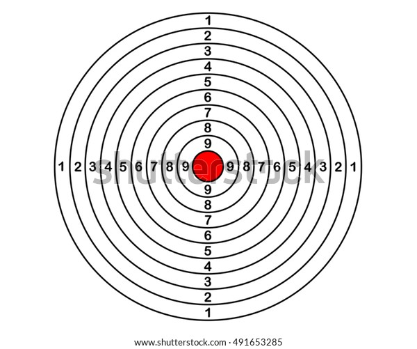 blank target sport for shooting competition, shoot vector