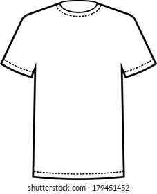 Blank Tee White T Shirt Template Vector