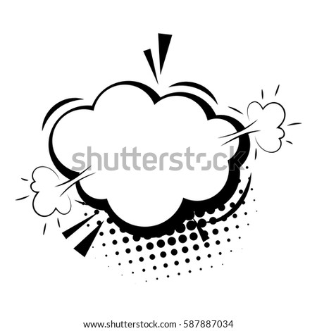 Blank Template Comic Text Speech Cloud Stock Vector Royalty Free