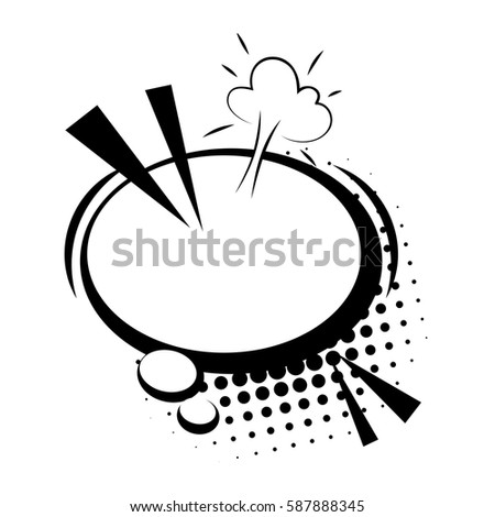 Blank Template Comic Text Speech Oval Stock Vector Royalty Free